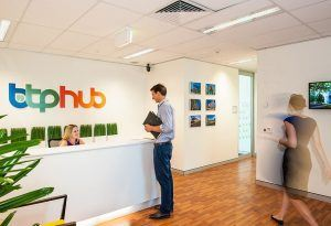 Brisbane Technology Park - HUB reception